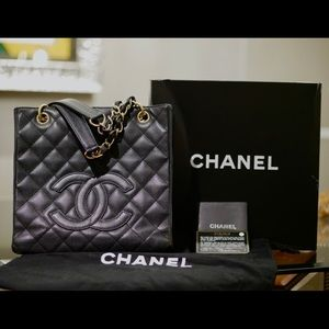 Chanel Petite Shopper | Quilted Caviar Leather
